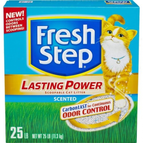 Fresh Step Lasting Power Scented Scoopable Cat Litter, 25 Lbs