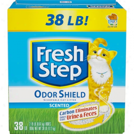Fresh Step Odor Buckler Scented CatL itter, 38 Pounds