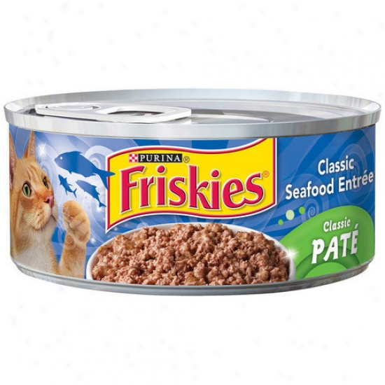 Friskies First-rate work  Pate Classic Seafood Wet Cat Food (5.5-oz Can, Box Of 24)