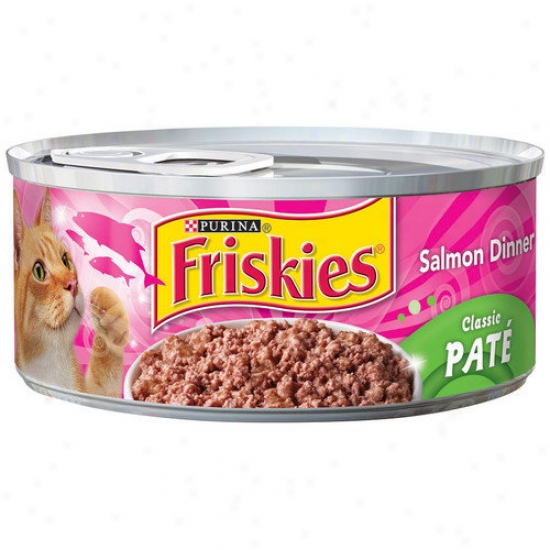 Friskoes Classic Pate Salmon Dinner Wet Cat Food (5.5-oz Can, Case Of 24)