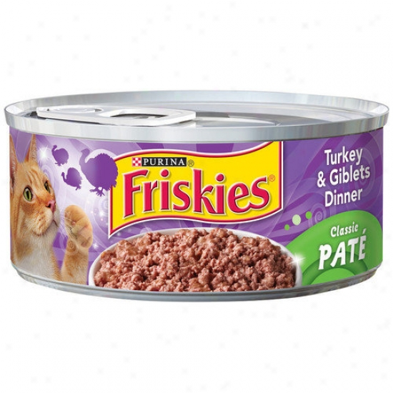 Friskies Classic Pzte Turkey And Giblets Dinner Cat Foods