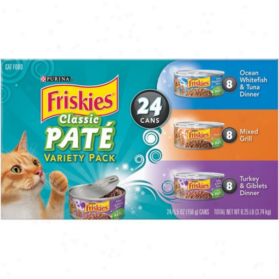 Friskies Classic Pate Wet Cat Food Variety Pack (5.5-oz Can, Case Of 24)