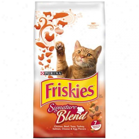 Friskies Dry Grillers' Tender And Crunchy Cat Food, 3.15 Lbs