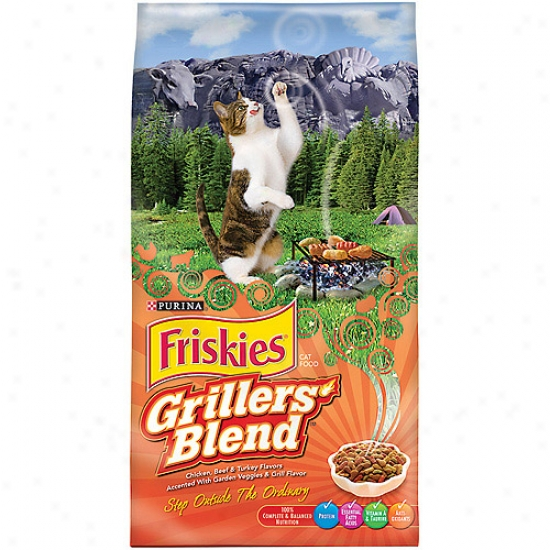 Friskies Dry Grillers' Tender And Crunchy Cat Food, 6.3 Lbs