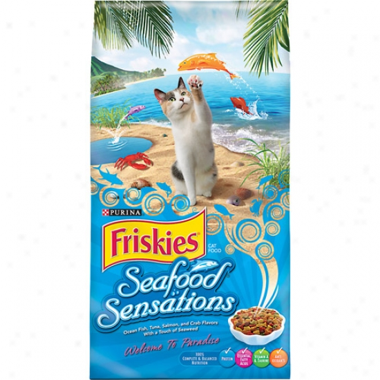 Friskies Dry Seafood Sensations Cat Food, 16 Lbs