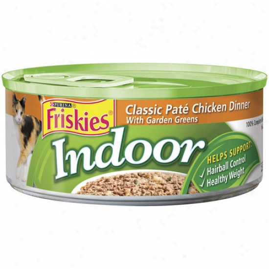 Friskies Indoor Classic Pate Chicken Dinner With Garden Greens Wet Cat Fo0d (5.5-oz Can, Question Of 24)