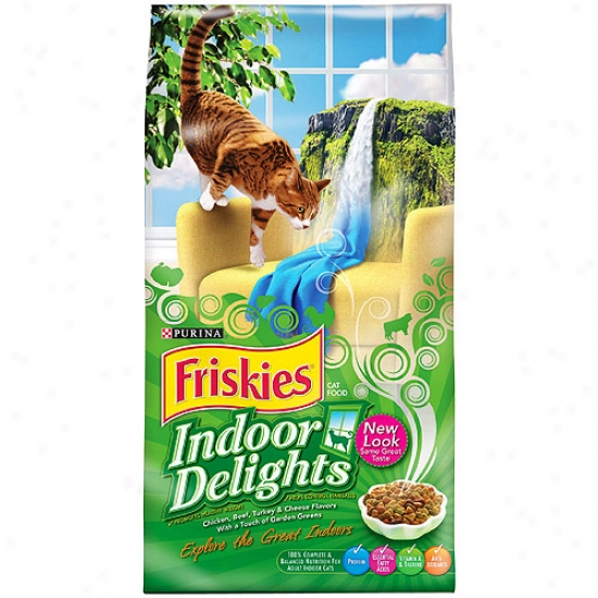 Friskies Indoor Purina Dry Cat Food, 6.3lb