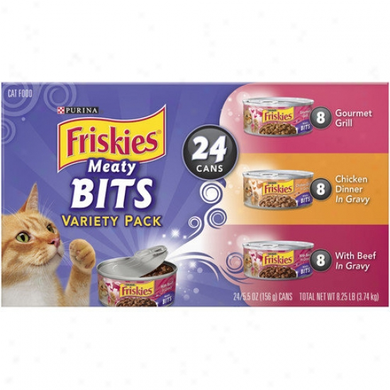 Friskies Meaty Bits Wet Cat Food Variety Pack (5.5-oz Can, Case Of 24)