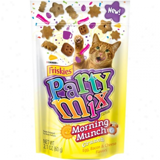 Friskies Party Mix Morning Munch Crunch Cat Treats, 2.1 Oz