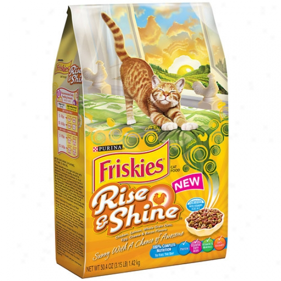 Friskies Rise & Shine Cat Food, 50.4 Oz