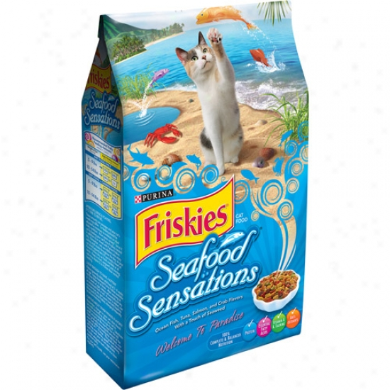 Friskies Seafood Sensations Cat Food, 3.15 Lb
