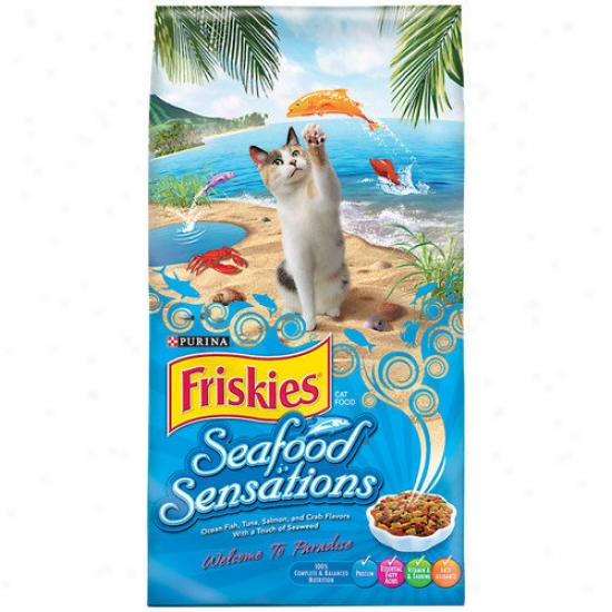 Friskies Seafood Sensations Dry Cat Food (16-lb Bag)