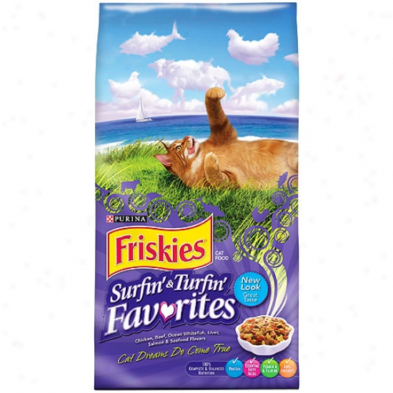 Friskies Surf & Turf Purina Dry Cat Food, 6.3lb
