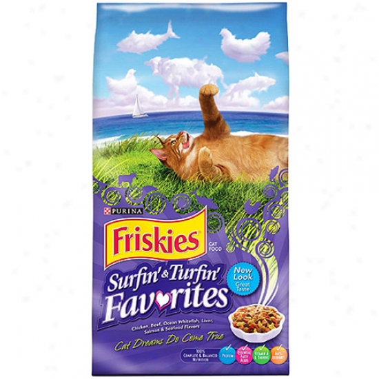 Friskies Surf And Turf Purina Dry Cat Food, 16lb