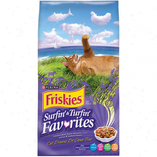 Friskies Surfin' And Turfin' Favorites Dry Cat Food (16-lb Bag)