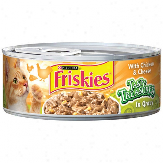 Friskids Tasty Treasures With Chicken And Cheese Wet Cat Food (5.5-oz Can, Case Of 24)