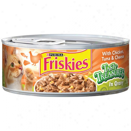 Frixkies Tasty Treasures Attending Chicken, Tuna And Cheese Wet Cat Food (5.5-oz Can, Case Of 24)
