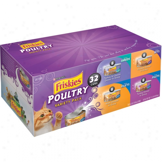 Friskies Wet Poultry Variety-pack Cat Aliment, 32-pack