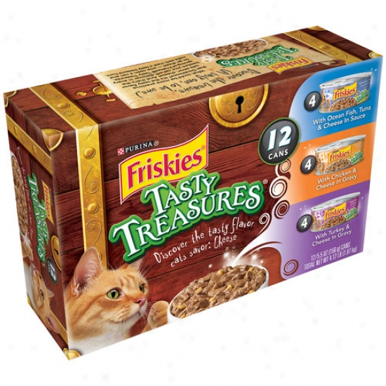 Friskies Wet Tasty Treasures Variety-pack Cat Food, 12-pack
