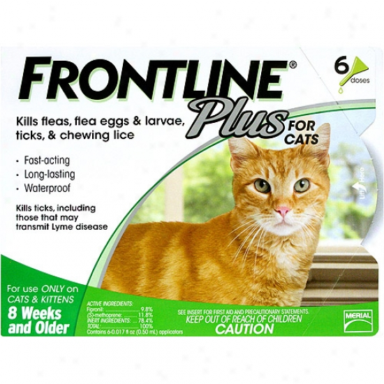 Frontline Plus Flea, Tick And Lice Control For Cats And Kittens 8 Weeks Or Older, 6ct