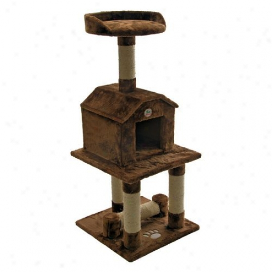 Go Pet Club Cat Tree Furniture 45 In. Higy - Brown