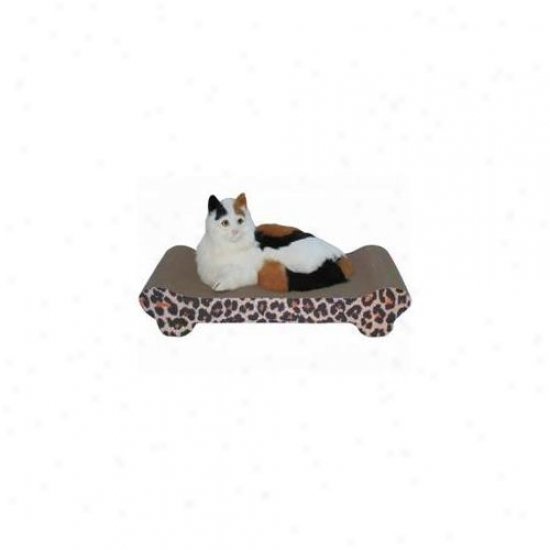 Go Pet Club Cp018 Cat Scratching Board Leopard Print