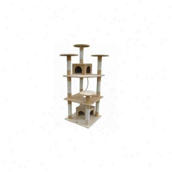 Go Pet Club F2060 70 Inch Belge Cat Tree Condo Furniture