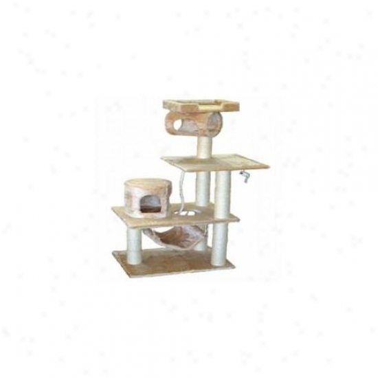 Go Pet Club F28 62 Inch Beige Cat Tree Condo Furniture