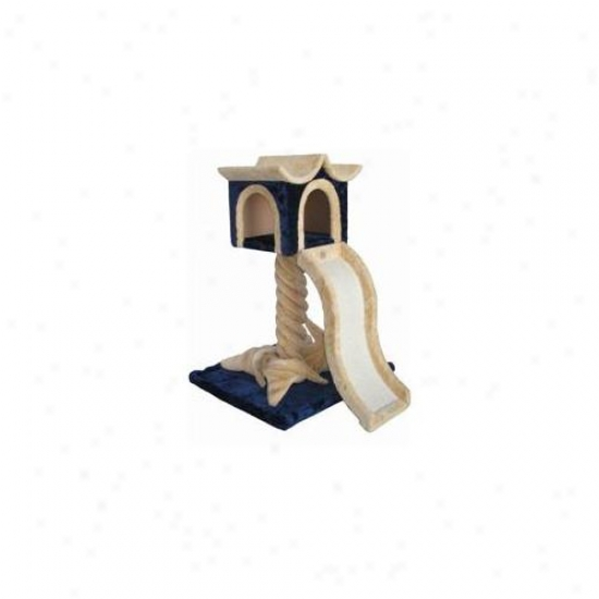 Go Pet Club F54 36 Inch Beige And Blue Cat Tree