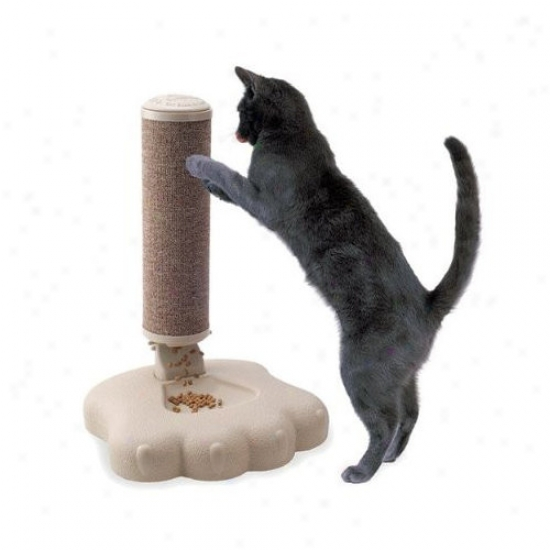 Good Pet Stuff Co. Interactive Cat Scratch Post And Fooc Treat Training Feeder