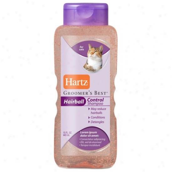 Hartz 12102 15 Oz Groomers Best Hairball Control Cat Shampoo