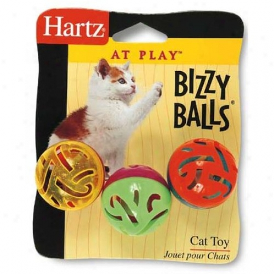 Hartz 82183 At Play Bizzy Balls Cat Toy