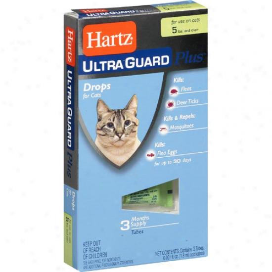 Hartz Ultraguard Plus Flea & Tick Ddops For Cats Over 5lbs