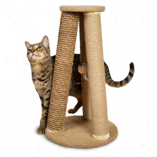 Hyacinth & Jute Pyramid Triple Scratch Cat Furniture