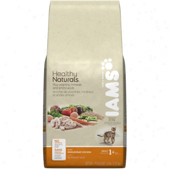 Iams Healthy Naturals Cat Food, Wholes0me Chidken, 5 Lb