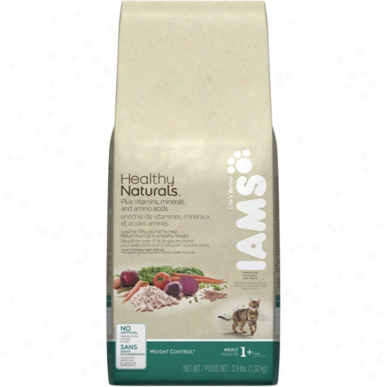 Iams Healthy Naturals Weight Control Cat Food, 2.9 Lb