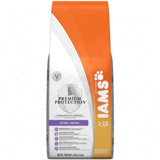 Iams Premium Protection Kitten Cat Food, 4. Lb