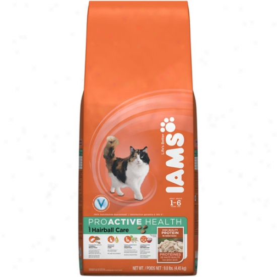 Iams Proactive Health Hairball Object of ~ Cat Food, 9.8 Lb