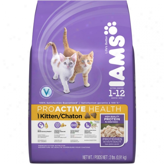 Iams Proactive Health Kitten Cat Food, 2 Lb