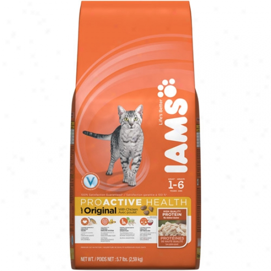 Iams Proactive Health Original Cat Food, Chicken, 5.7 Lb