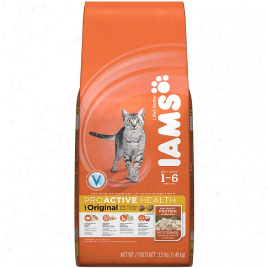 Iams Proactive Health Original Cat Food, With Chicken, 3.2 Lb