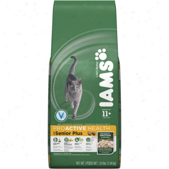 Iams Proactive Health Senior Plus Cat Feed, 3.4 Lb