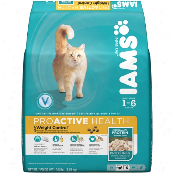 Iams Proactive Health Weight Control Cat Food, 9.8 Lb