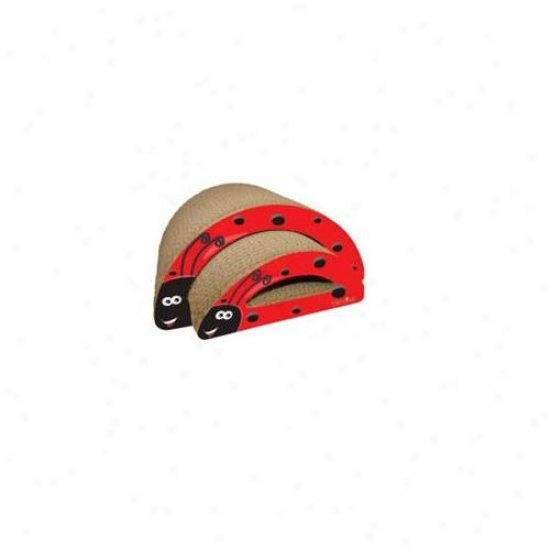 Imperial Cat 01123 Ladybug Scratcher - 2-in-1