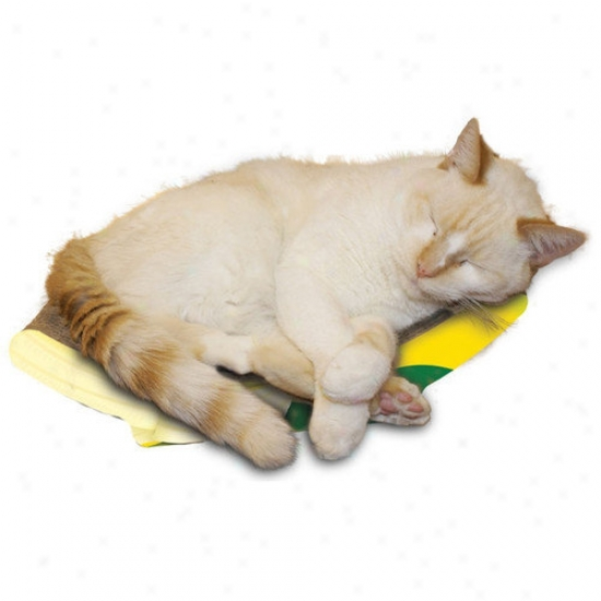 Imperial Cat Banana Recycled aPper Scratching Board