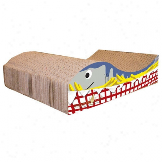 Imperial Cat Fish And Chips Recycled Paper Cat Scratching Board