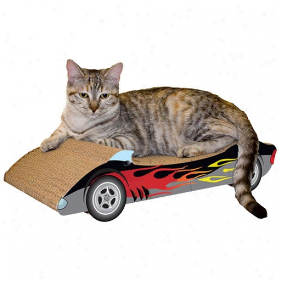 Imperial Cat Mean average Racer Recycled Paper Cat Scratching Board