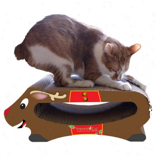 Imperial Cat Reindeer Recycled Paper Scratching Station