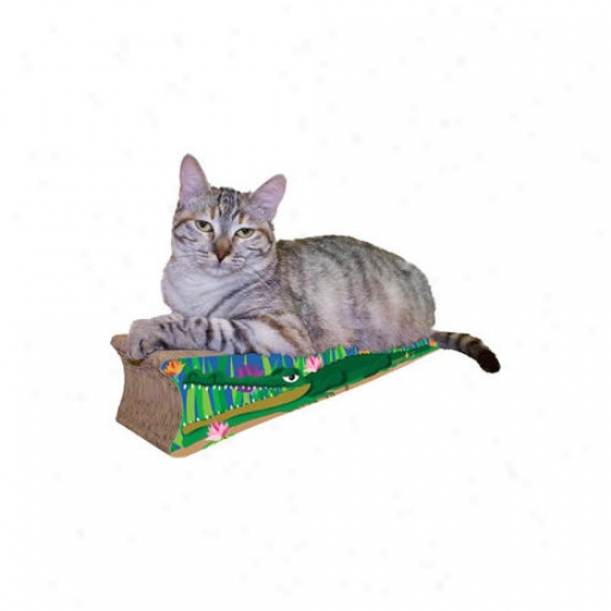 Imperial Cat Small Crocodile Recycled Paper Scratching Board