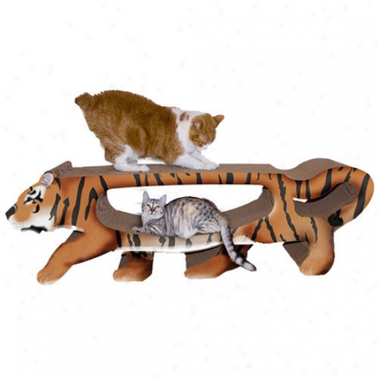 Kingly Cat Tiger Cardboard Cat Scratching Board